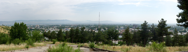 View from Victory Park in Dushanbe, Tajikistan
